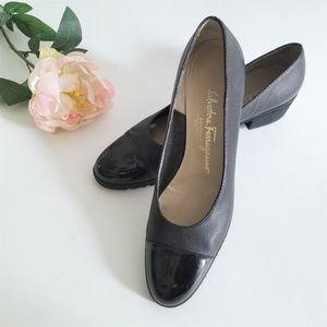 Salvadore Ferragamo Black Slip On Shoe